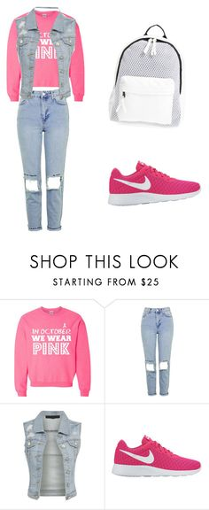 """""""Untitled #45"""" by ellen7ellen ❤ liked on Polyvore featuring Topshop, NIKE and Poverty Flats"""