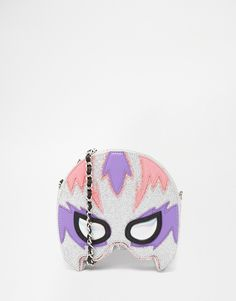 Skinnydip Glitter Superhero Mask Across Body Bag