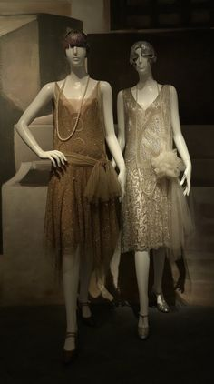Beaded Evening dresses by Jeanne Lanvin (1920's) at The Metropolitan Museum of Art. https://thefashionexaminer.wordpress.com/2010/06/03/culture-vulture-charles-james-gowns-and-lanvin-flapper-shifts-at-the-met%E2%80%99s-costume-institute-exhibit/