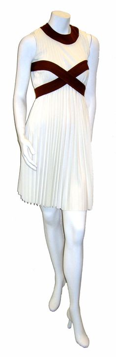 $89.00  Sassy late 1960's high fashion Leo Narducci designer dress with accordian pleating.
