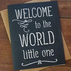 Welcome Baby Card  Benvenuti al mondo Baby Shower Card  New