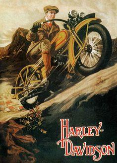 Harley Davidson vintage poster