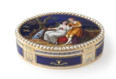 A Swiss gold, enamel and pearl snuff box, Georges Rémond et Cie., Geneva, circa 1790   lot   Sotheby's