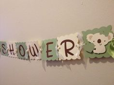 Koala Baby Shower Banner  Shower Decorations  Baby by wittypaper, $15.00