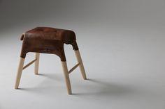 Folded stool by Tortie Hoare