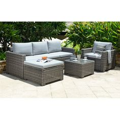 OutAndOutOriginal Marbella 5 Seater Sectional Sofa Set with Cushions