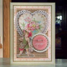 Handmade-Valentine's-Day-Card-Be-Mine-Cupid & Heart-Anna-Griffin-So-Smitten