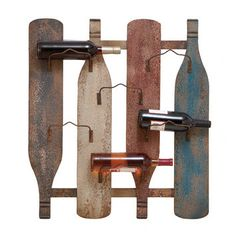Woodland Imports 6 Bottle Wall Mount Wine Rack - cool idea using old oars and some kind of hooks to make a towel rack.