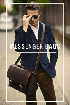 Beautiful handmade messenger bags for men. Made from the finest materials to provide you with a stylish and durable must-have item!! AnHombre - Handmade Excellence. #MessengerBag #MensApparel #Leather