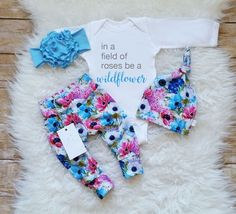 Baby Girl Clothes Newborn Baby Girl Wildflower Outfit Birthday Girl Outfit Photo Prop Take Home Outfit Baby Shower Gift New Baby Gift by LLPreciousCreations on Etsy https://www.etsy.com/listing/489917410/baby-girl-clothes-newborn-baby-girl
