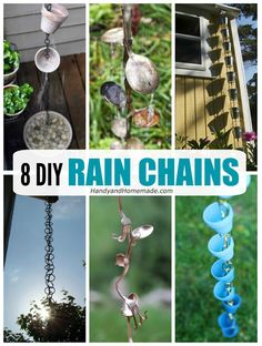Gorgeous DIY Rain Chain Ideas Here are some gorgeous rain chains that you must try this summer. They add the perfect touch
