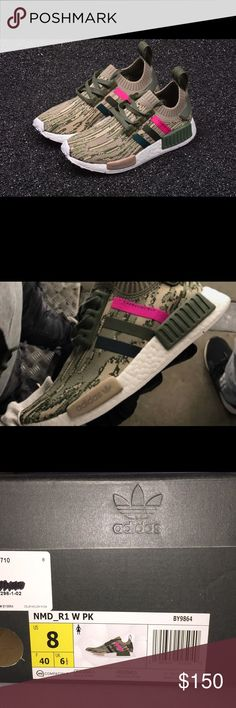 the best attitude 397be f8a82 Woman s Adidas NMD R1 Primeknit BRAND NEW Pink   Camo Running Shoes adidas  Shoes Sneakers