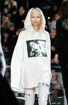 Gigi walked, Naomi watched, and Rih took a bow in an oversized sweatshirt (and not much else) from her first full clothing collection for Puma.