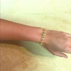 Bracelet Gold with fake diamonds.  Feel free to make an offer Jewelry Bracelets