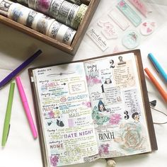 Week something ... I lost track 😂 that's the problem when you make your own pages! 🤔 #midoritravelersnotebook #travelersnotebook #travelersnote #notebook #planner #plannerpages #agenda #diary #journal #journaling #journalpages #stationery #washitape