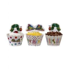Hungry Caterpillar Cupcake Wraps | 24ct for $7.45 in The Very Hungry Caterpillar - Party Themes