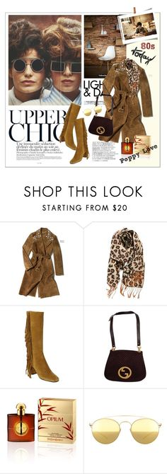 """""""80s today / Poppy Love"""" by vinograd24 ❤ liked on Polyvore featuring By Zoé, BP., Yves Saint Laurent, Retrò, Gucci, Mykita, women's clothing, women's fashion, women and female"""