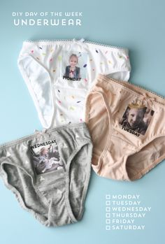 DIY Underwear | What I like about these is they can be a totally fun, non-sexy gift for a tiny person, or you could doll up a real nice pair o' panties for your lover. Here's how.