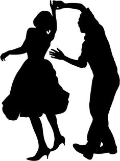 Swing, a type of dance originated in the during the Harlem Renaissance. Swing Dancing was usually combined with Jazz music Swing Dancing, Ballroom Dancing, Bailar Swing, Dancing Clipart, Dance Silhouette, Wedding Silhouette, Dance Lessons, Learn To Dance, Dance Art