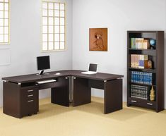 99+ Corner Home Office Desk - Home Office Furniture Ideas Check more at http://www.sewcraftyjenn.com/corner-home-office-desk/