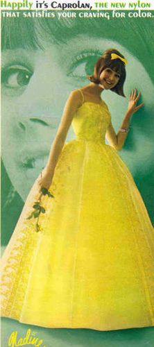Colleen Corby (1947~ ) an American model best known for her work as a teen model esp. Seventeen magazine covers in the 1960's. *wearing Nadine's Prom Gown / 1960年代、アメリカ版セブンティーンの表紙で一世を風靡したモデル、コリーン・コルビー。*ナディーン製、プロムガウン着用。
