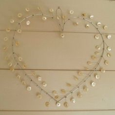 handcrafted revelry — button heart wreath…