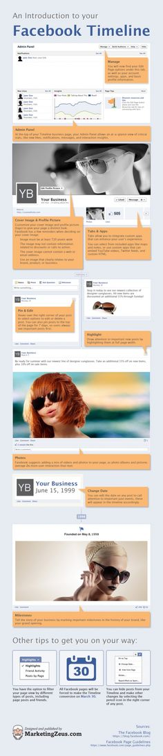 An Introduction To Your Facebook Timeline [INFOGRAPHIC]
