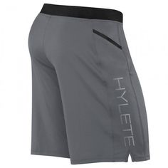 CrossFit Clothes hylete vertex ii mens crossfit shorts cool gray back. Mens Workout Shorts, Crossfit Shorts, Crossfit Clothes, Sport Shorts, Best Crossfit Workouts, Camisa Polo, Shorts With Pockets, Mens Fitness, Gym Men