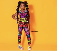 Colourful Outfits, Colorful Clothes, Black Kids Fashion, Cute Little Girls Outfits, Unicorn Birthday Parties, Tween, Fashion Brand, Bodysuit, One Piece
