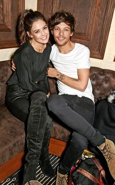 The cute couple takes a break from baby duties to support the One Direction singer's sister and her makeup line.