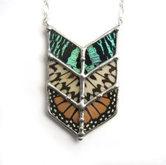 Chevron Tribal Butterfly Necklace.
