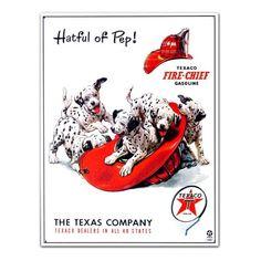 Texaco Dalmatian Hatful Of Pep Metal Sign , 13x16 Poster Revolution http://www.amazon.com/dp/B000I7IHR8/ref=cm_sw_r_pi_dp_ft-aub0M2STF5