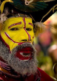 Huli warrior - Mount Hagen Papua New Guinea