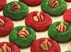 These were really good and easy! I used the mint filled kisses bc I couldn't find the peppermint ones. It was hard to figure out when to put the kisses on. I waited a good 5 minutes and they still melted quite a bit.