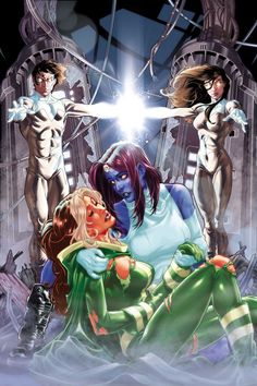 Mystique and Her adopted daughter, Rogue
