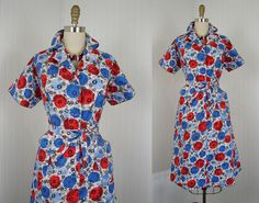 1940s Dress  Vintage 40s 50s French Dress Novelty by jumblelaya, $182.00