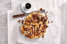 Kijk wat een lekker recept ik heb gevonden op Allerhande! Lavazza's koffiecheesecake met karamel en chocolade (advertorial)