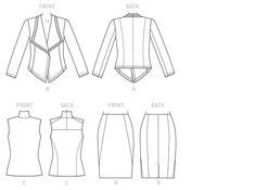 Donna Karan, Vogue Pattern 1465 line drawing