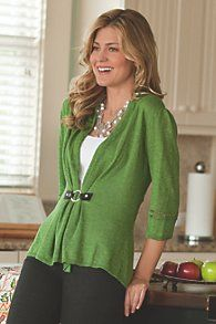 Womens Ruched Cardigan