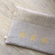 Pochettes lin 3 étoiles Affaires de Famille *** Création / Lin / Fait-main / Made in France
