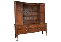 19th-C. Welsh Queen Anne-Style Oak Dresser | one kings lane | 4,595.00 USD