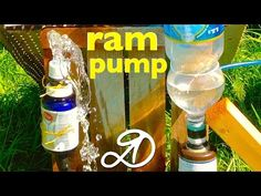 """How to Make a """"Water Ram"""" off-grid Water Pump, requires no electricity - YouTube"""