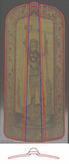 15th Century Pavises -- myArmoury.com Breakdown of layers / joints.