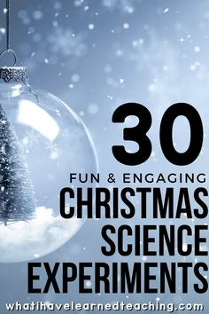 Let the holiday cheer begin in your elementary classroom! We've curated 30 holly, jolly Christmas and holiday science activities that are perfect for the weeks leading up to your holiday break! These physical science, earth science, and life science experiments will engage students and teach them a little bit about the world around them! #holidayscienceexperiments #christmasscience #candycanescience Elementary Science, Science Experiments Kids, Science Classroom, Science Lessons, Teaching Science, Science Activities, Life Science, Science Ideas, Science Quotes