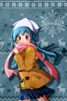 Ika Musume, Squid Girl, Grinch, Donald Duck, Otaku, Disney Characters, Fictional Characters, Fanart, Nerd