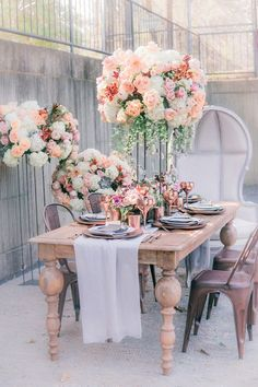 Industrial Chic Wedding Design with Intrigue Designs, Manda Weaver Photography…