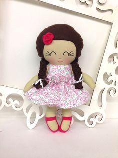 Handmade Dolls, Fabric Dolls, Soft Doll, Cloth Doll, Gifts for Girls,Stuffed Doll,Homemade Dolls,Softie Rag Doll Copy on Etsy, $44.00