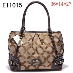 US1395 Coach Handbags Outlet E11015 - Brown 1395 (a favourite repin of VIP Fashion Australia Find preloved handbags at www.vipfashionaustralia.com )