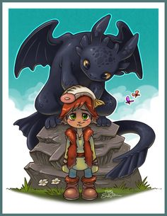 Toothless and Hiccup by *TsaoShin on deviantART