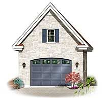 Detached Garage with Storage Space Above